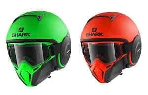 Casque SHARK Drak Neon mat noir orange vert fluo moto scooter maxiscooter NEUF
