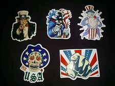 LAPTOP STICKERS AMERICANA STYLE UNCLE SAM USA CAR SKATEBOARD DECALS LOT OF 5