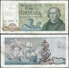 5000 Lire Colombo II tipo 10/11/1977 Baffi - Stevani
