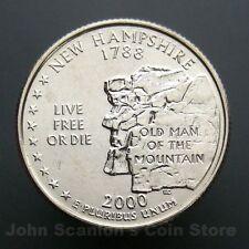 2000-D New Hampshire State Quarter 25c US Mint Coin Choice BU