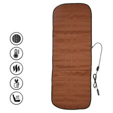 12V Car Rear Seat Heated Cover Warmer Protector Pad Cushion Mat Coffee Color UK