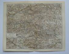Steiermark Österreich historische Landkarte um das Jahr 1890