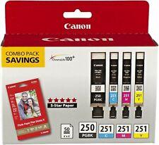 CANON  Genuine  PGI-250/CLI-251 with Photo Paper 50 Sheets. NEW