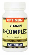 Optimum Vitamin B Complex Dietary Supplement Tablet 100 ct