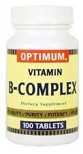 Optimum Vitamin B Complex Dietary Supplement Tablet 100 ct