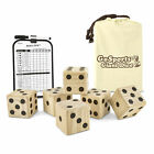 GoSports Giant 3.5inch Wooden Playing Dice Set Family Backyard Lawn Game (Used)