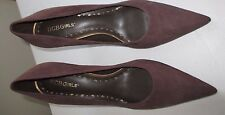"""***New Without Box***BCBGirls Brown Suede Leather Pumps Size:8.5 3"""" Heel"""
