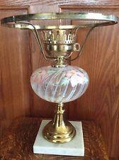 .0VINTAGE FENTON ART GLASS LAMP HAND PAINTED FONT
