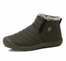 JACKSHIBO Womens Slip On Winter Boots Fur Lined Outdoor Anti-Slip Snow B...