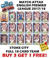 MATCH ATTAX 2017/18 STOKE CITY FULL TEAM SET 18 CARDS - BUY 3 GET 1 FREE