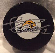 Jhonas Enroth Autographed Buffalo Sabres Puck NHL