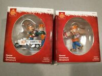 Home Depot Homer Christmas Ornaments 2012 - Lot of Two - RARE IN BOX