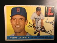 1955 Topps Baseball High # Rookie Card Norm Zauchin #176 (Poor+Marked) Red Sox