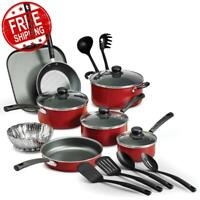 Tramontina 18 Piece Non-stick Cookware Set Pots Pans Kitchen Home Cooking