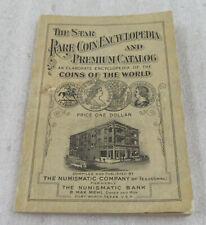 Rare Vintage Star Rare Coin Encyclopedia & Premium Catalog - 1926 Copyrighted