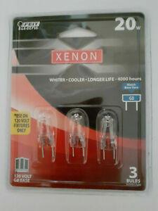 New Xenon 20 Watt Light Bulbs BPXN20 G8 Base 120 Volt 3 Pack