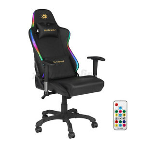 BlitzWolf Gaming Chair Office Computer Racing Recliner PU Leather LED Ergonomi