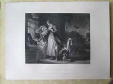 Vintage Print,COTTAGE TOILET,Wilkie Gallery,1845