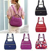 Women Ladies 3-Way Double Side Backpack Waterproof Shoulder Bag Crossbody Bag