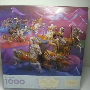 1991 Springbok Tobin Fraley Carousel Animals Collectors Series 1000 Pc Puzzle