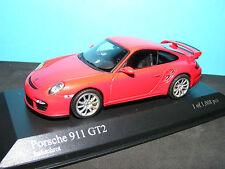 Porsche 911 GT2  (997) 2007 in Indischrot  NLA Very Rare Minichamps model.