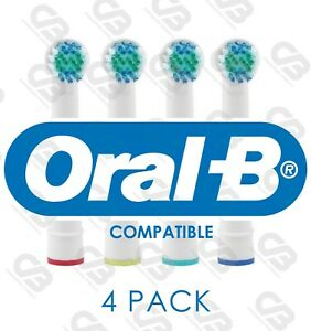 ORAL B Braun Compatible Electric Toothbrush Heads Replacement Head 4 PACK