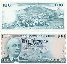 Islanda/Iceland - 100 kronur 1961 (1965: 1974-1984) AUNC-PICK 44, Sign. 42a