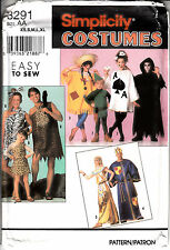 King Costume Adult Cave Card Halloween Sewing Pattern SIMPLICITY UNCUT 8291