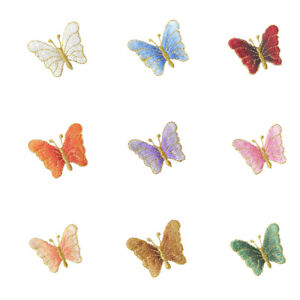 DIY Butterfly Embroidery Iron Sew On Patches Badge Cloth Bag Applique Craft