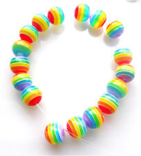 100 MIXED BEAUTIFUL RAINBOW ROUND BEADS 8mm + FAST FREE SHIPPING
