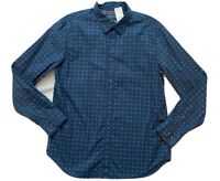 Banana Republic Men's Button Up Shirt Sz Large L Custom Wash Camden Fit Blue