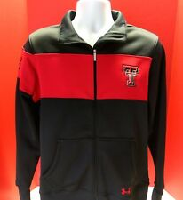 EUC Texas Tech Under Armour Red Raiders Zip Up Sweater Jacket College Red Blk XL