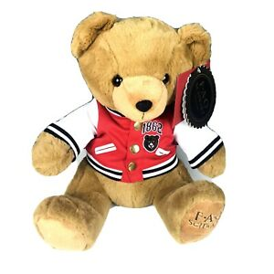 FAO Schwarz 2019 Varsity Jacket Anniversary Soft Plush Teddy Bear Toy 12 Inch