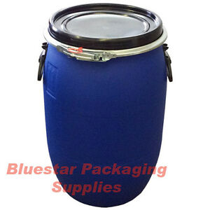 60L Litre Open Top Plastic Storage Drum Barrel Keg With Lid Food Grade * New *