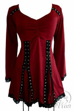Sexy ELECTRA Gothic Corset Top Garnet RED Dare to Wear Junior Size S