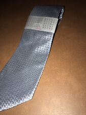 NWT NEW Geoffrey Beene Men's Designer Tie Sateen Geometric Design Gray MSRP $55+