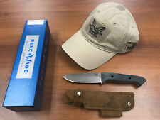 "Benchmade 162 Bushcrafter Fixed 4.43"" S30V Satin Blade w/FREE Benchmad Hat *NEW*"