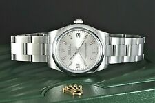 Ladies Rolex 31mm Oyster Perpetual Stainless Steel Pink Marker Wrist Watch 17720