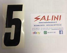 Numero Numeri adesivi gara moto cross CINQUE Nero - 10 cm
