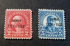 Us Stamp Scott# 647-648 Overprint Washington,Roosevelt 1928 Mnh L192