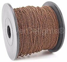 Curb Chain Spool - 330 Feet - Antique Copper - 2x3mm Link - Bulk Roll 100 Meters