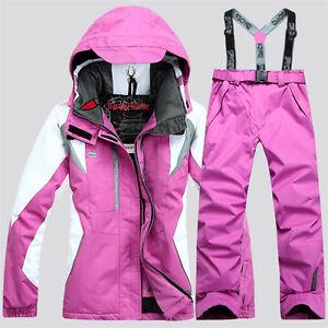 Women's Winter Waterproof Outdoor Coat Pants Ski Suit Jacket snowboard Clothing