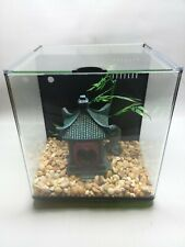 """New listing 9""""x9""""x10"""" ; All In One Tank with Oriental gazebo and rocks in real good condition"""