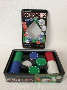 Cardinal Set Of Professional Poker Chips 100 Dual Toned Game Strategy F721
