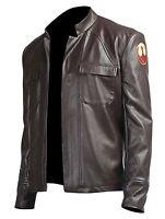 Poe Dameron Star Wars The Last Jedi Pure Genuine Leather Jacket Cosplay New
