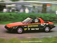 Rare Catalogue De Presse 1982 FIAT X1/9 Designer Automobile BERTONE !!!
