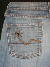 7 for all Mankind jeans Great China Wall GCW Bootcut Distressed Sz 25