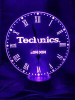 Technics  neon Clock  engraved on Acrylic