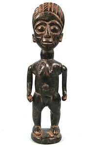 Art Africain Arts Premiers - Ancien Fétiche Abron - Bras Articulés - 27 Cms ++++