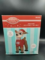 GEMMY RUDOLPH RED NOSED REINDEER 3.5 FT AIRBLOWN INFLATABLE NIB Christmas
